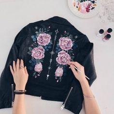 Hand painted jacket / Rosie Harbottle
