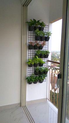 Apartment Balcony Garden, Small Balcony Garden, Small Balcony Design, Small Balcony Decor, Balcony Plants, Apartment Balcony Decorating, House Plants Decor, Outdoor Balcony, Apartment Balconies