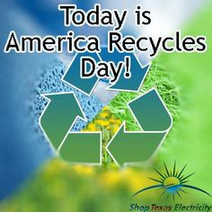 America Recycle Day! Energy Saving Tips, Save Energy, Recycling, America, Day, Repurpose, Upcycle