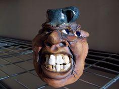 mini 3 face jug art folk pottery   eBay