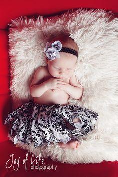 Newborn Black and White Damask Tutu by BellaOliviaTutus on Etsy, $28.00