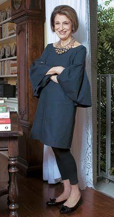 Fashion writer Costanza Pascolato of Vogue Brazil