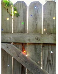 Drill holes- fill with marbles