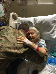"""Elizabeth Laird, the woman beloved by soldiers at Fort Hood as the """"Hug Lady"""" after giving out more than 500,000 hugs since 2003, died at the age of 83 on Thursday after a long battle with breast cancer."""