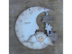 Luna con querubines Decorative Plates, Clock, Christmas Ornaments, Holiday Decor, Wall, Home Decor, Angel Ornaments, Cherubs, Birth