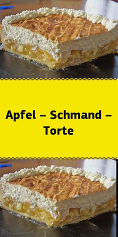 Apple - sour cream - cake - Ingredients: 175 g butter 160 g sugar 200 g flour 1 tsp baking powder 1 egg (s) 4 apples (Boskop) 1 - Easy Cheesecake Recipes, Easy Cookie Recipes, Dessert Recipes, Desserts, Chocolate Pie With Pudding, Banana Pudding, Apple Sour Cream Cake, Apple Cake, Torte Cake