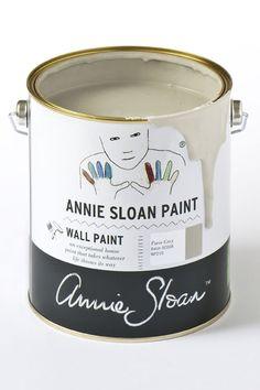 Annie Sloan Wall Paint Paris Grey de muurverf die u makkelijk zonder spetters kunt aanbrengen en afneembaar is zodat u het in iedere ruimte in huis kunt gebruiken