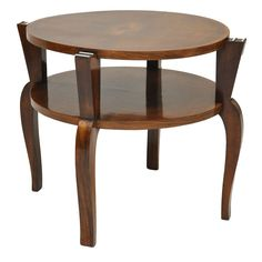 French Art Deco Walnut Coffee Table, France, 1930's