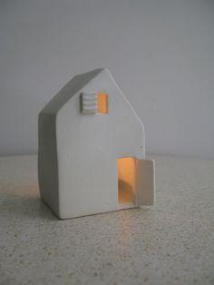 Love Houses - Modern ceramic candle holders.. $35,00, via Etsy.