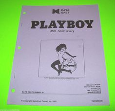 On Sale.. PLAYBOY 35th By DATA EAST NOS 1989 PINBALL MACHINE MANUAL w SCHEMATICS #dataeastpinball #playboypinball