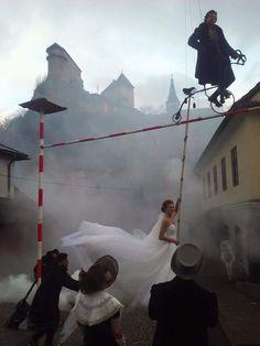 Katarina Smolkova and husband, professional cyclist,  Peter Sagan pose for wedding photos :)