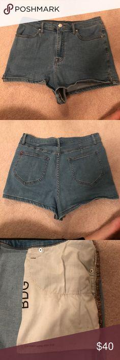 BDG Pin Up Super High Rise Shorts Light Blue BDG Pin Up Super High Rise Shorts BDG Shorts Jean Shorts