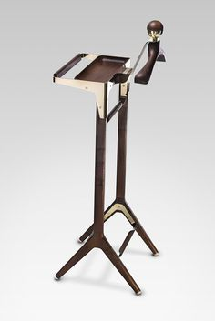 We took our time designing this unique high quality piece of furniture, never rushing to meet a deadline and always paying attention to the details. Honorific London gentleman's valet stand