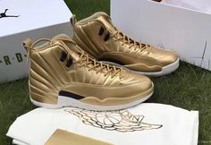 An Air Jordan 12 Pinnacle Gold Is Revealed