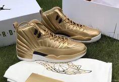 An Air Jordan 12 Pinnacle Gold Is Revealed Jordan Shoes Online, Air Jordan Shoes, Sneakers Fashion, Fashion Shoes, Women's Sneakers, Mens Fashion, Retro Sneakers, Cute Shoes, Me Too Shoes