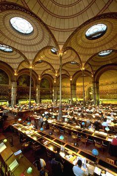 Salle Labrouste, BNF, Site Richelieu, 2 rue de Louvois, Paris II