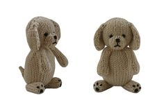 Adorable Knitted Puppy That Is Soft And Cuddly [FREE Knitting Pattern]