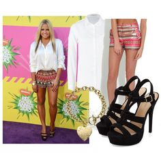Allli Simpson by sotheskysblue on Polyvore featuring polyvore, fashion, style, Lee, Rare London and Michael Kors