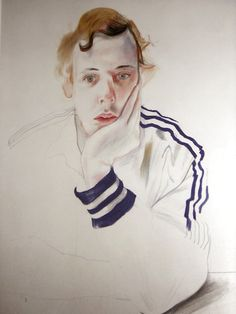 David Hockney:    Gregory,   Drawing (1978)