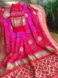 Indian Bridal Sarees, South Indian Sarees, Bridal Silk Saree, Indian Silk Sarees, Kanjivaram Sarees Silk, Pure Georgette Sarees, My Collection, Saree Collection, Bandhini Saree