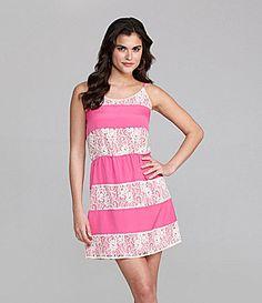Gianni Bini Tracyn Lace-Stripe Dress | Dillards.com