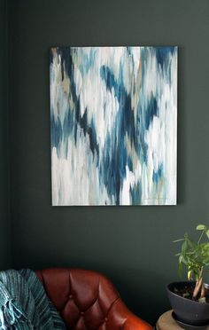 The Takeoff a 24x30 Original Abstract Painting by ChrislovesJulia