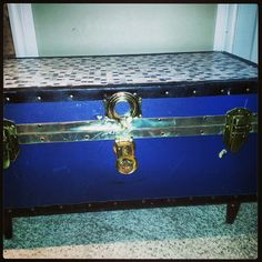Old trunk given new life repurposed as a coffee table!