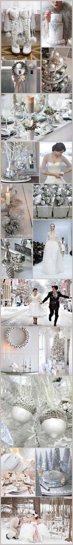 Plata, un color perfecto para inspirar la #decoración de una #boda en #Navidad De Bespoke-Bride: Wedding Blog