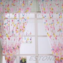 Colorful Flowers Drape Tulle Voile Balcony Bedroom Window Drape Sheer Curtain New Drop shipping Sheer Drapes, Room Divider Curtain, Bedroom Decor, Home Textile, Curtains, Floral Prints, Curtains Bedroom, Bedroom, Sheer Window Panels