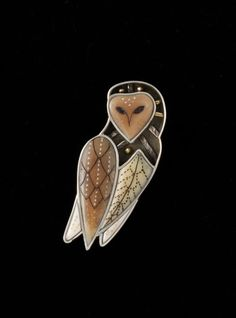 Dawn Wallace Barn Owl Pin Pendant