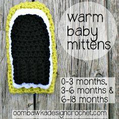 Warm Baby Mittens Oombawka Design Crochet