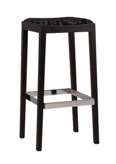 """""""Cognac Contemporary Wood Bar Stool""""  A sleek and clean design modern beech wood bar stool. It comes in standard or premium finishes and a padded seat.  Please contact us for pricing (718)363-3097."""