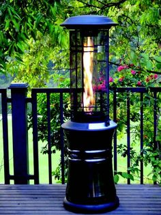 This Lifestyle Santorini Flame Heater Is A 11kw Gas Patio Which Not Only