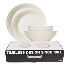 iittala Teema White Starter Set A set of simple white dinnerware is an essential for every home, but so many options can feel overwhelming. Kaj Franck's classic has been celebrated for its durability and beauty since making it . White Dinnerware, Timeless Design, Tablescapes, Design Inspiration, Plates, Deco, Simple, Tableware, Gifts