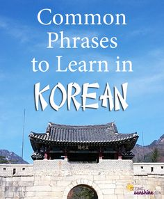 "Need to learn how to say ""Thank you"" in Korean? This post shares how to say many common phrases in Korean that you may need to learn when traveling there. Save it to your phone so you can study it or pull it out when needed."