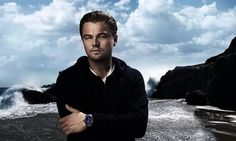 The stars LOVE designer watches...Leo is sporting a TAG Heuer in this photo