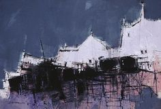 East Neuk Pier by British Contemporary Artist James SOMERVILLE