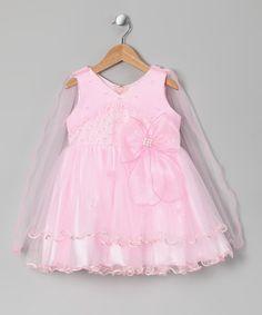Loving this Pink Party Dress - Girls on #zulily! #zulilyfinds