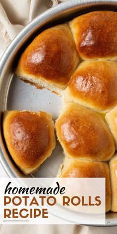 These Potato Rolls are my family's favorite homemade dinner rolls. Easy to make with two secret ingredients that make them extra fluffy. You'll never make another dinner roll recipe again! Lemon Recipes, Baking Recipes, Bread Recipes, Potato Recipes, Homemade Dinner Rolls, Dinner Rolls Recipe, Best Bread Recipe, Roll Recipe, Potato Rolls Recipe
