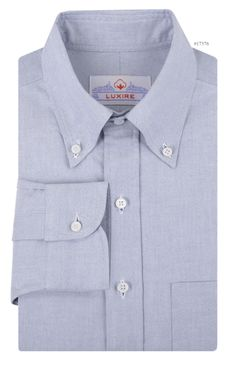 Luxire dress shirt constructed in Classic Blue Oxford: http://custom.luxire.com/products/classic-blue-oxford  Consists of a button down collar, 1-button cuffs and a back centre pleats.
