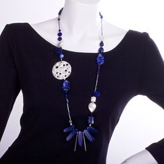 N°216 The Lapis Lazuli Bank Robber one of a kind handcrafted Statement Necklace $269 AUD free global shipping & returns www.luka.com.au