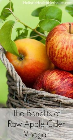 The Benefits of Raw Apple Cider Vinegar- Learn about the many reasons why you should be taking raw apple cider vinegar daily! #health #wellness #ACV #energy #allergies