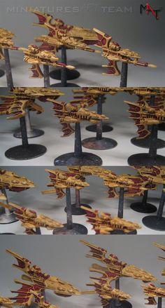 Eldar fleet with space bases - Battlefleet Gothic