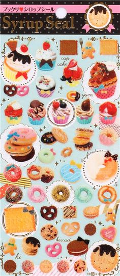 cute cake cupcake cookie stickers from Japan 2
