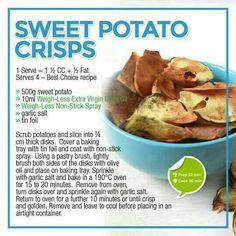 Easy Bread Recipes, Veggie Recipes, Snack Recipes, Healthy Eating Recipes, Healthy Snacks, Healthy Dinners, Sweet Potato Crisps, Weight Watchers Meals, Kids Nutrition