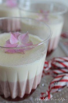 Stella Vanilja: Kerros pannacotta Desert Recipes, Mousse, Panna Cotta, Deserts, Vanilla, Good Food, Food And Drink, Healthy Recipes, Healthy Food
