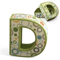 d letter box - think I'm in love with this shape from the Silhouette Online Store! Big Letters, Letter D, Design Crafts, Design Projects, Craft Projects, Silhouette Online Store, 3d Craft, Silhouette Design, Box Design