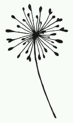 Dandelion : Pinner wrote: Bought this Barbara Gray stamp. Zentangle, Silkscreen, Stencil Patterns, Stencil Designs, Stencil Templates, Ideias Diy, Silhouette Portrait, Motif Floral, Digital Stamps