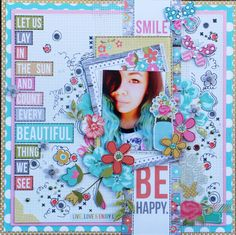 Be Happy - Simple Stories Vintage Bliss papers.