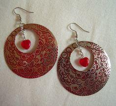 Like Red on a Rose, Repurposed Vintage Earrings